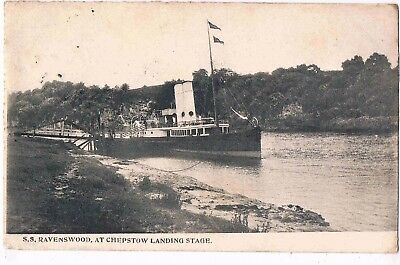Wales - S.s. Ravenswood, At Chepstow Landing Stage, 1906