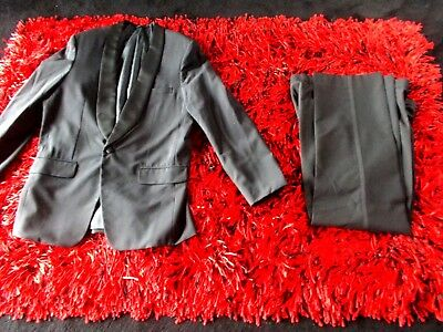 Mens Vntge  Roll Collar Dinner Jacket Fine Vgc  46 Singapore Free  Trousers