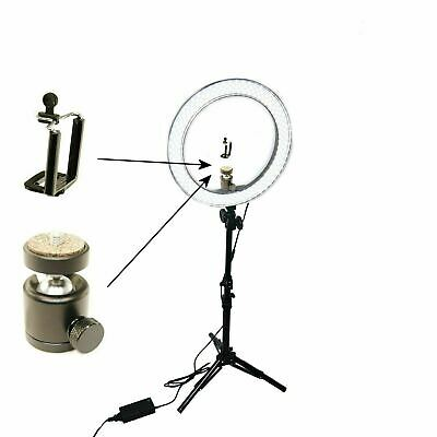 "Studio 12"" LED 35W Ring Light +Kit +Reverse Stand Photo Video Makeup Beauty UK"