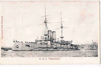 "Malta - Duncan-Class Battleship H.m.s. ""montagu"" Anchored At Malta, 1904"