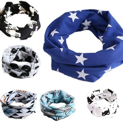 6Colors Baby Boy Girl Bibs Head Scarf Towel Saliva Bandana Printing Neckerchief.