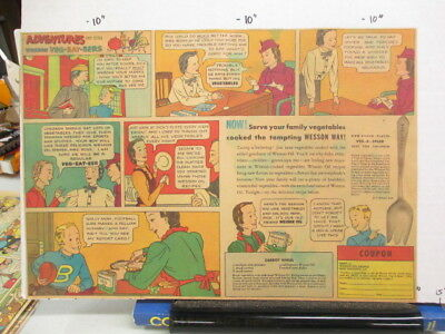 newspaper ad 1930s WESSON cooking oil Veg-A-Spear premium spoon fork comic
