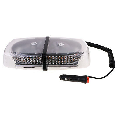 Car Truck 240 LED Flash Strobe Rotating Oval Rooftop Emergency Red Light