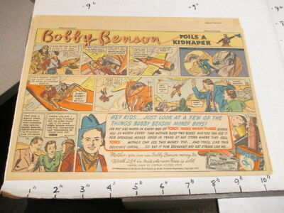 newspaper ad 1937 FORCE cereal box Bobby Benson western cowboy comic KIDNAP