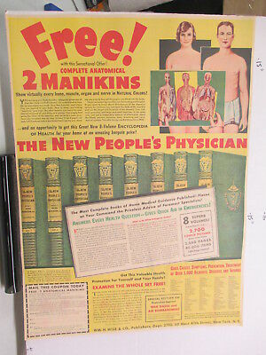 newspaper ad 1940s PEOPLE'S PHYSICIAN Wm Wise medical book WWII American Weekly