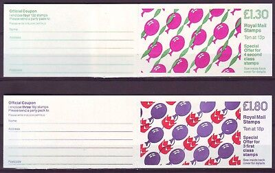 Qe Ii Gb 1988 Childrens Parties Balloons 2 Booklets Fl14 + Fu8 Mnh Low Shipping!