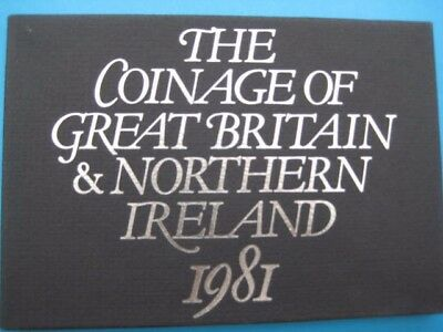 1981 Royal Mint Proof Set Coinage Of Great Britain & Northern Ireland