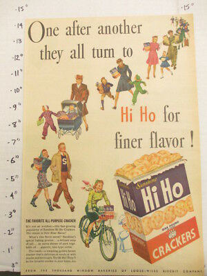newspaper ad 1945 American Weekly HI HO Sunshine snack crackers bicycle parade