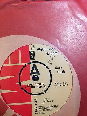 "Kate Bush Demo:""wuthering Heights"".1978 Emi.uk#1.only A Few Hundred Demos Made!!"