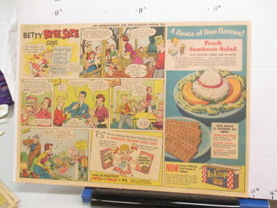 newspaper ad 1951 Ralston RY-Krisp crackers Wheat Chex cereal box Betty says