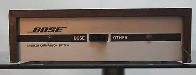 Bose Speaker Comparison Switch