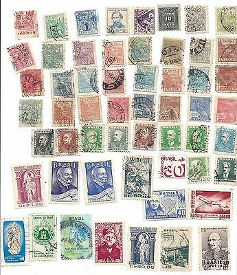 Brazil 50 Assorted Used stamps