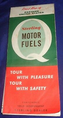 BS701 Sterling Motor Fuels Road Map Eastern United States
