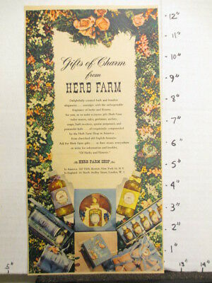 newspaper ad NYT 1945 HERB FARM SHOP perfume soap potpourris talc scented GIFT
