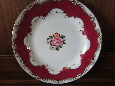 Art Deco?Radfords Fenton China  1X17.5cms Tea/Side Plate Red Floral Stunning