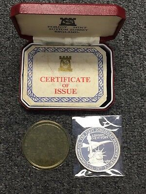 Concorde First Scheduled Flight London-New York Silver 1977 Medal By Pobjoy Mint