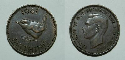 GREAT BRITAIN : FARTHING 1941 - Attractive Grade