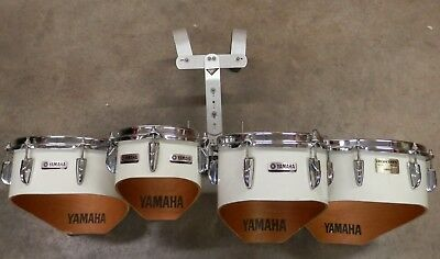 """Yamaha Marching Quads Toms w/ Carrier 13-12-10-8""""  !NORESERVE!"""