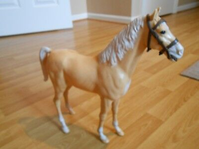 Vintage Marx Best Of The West Palomino Horse On Wheels 1960's