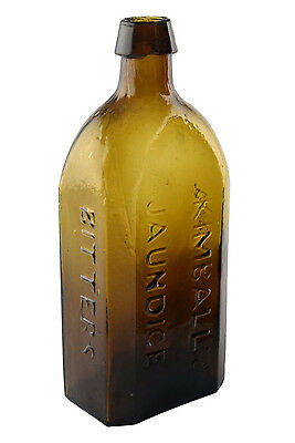 19th Century Antique Kimball's Jaundice Bitters Troy NH Glass Bottle