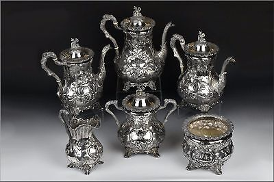 Important & Rare Bailey & Co. American Coin Silver Tea Set