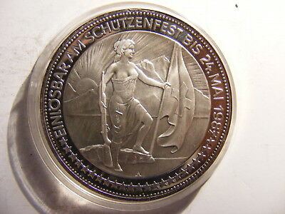 Switzerland 50 Francs, 1987, Federal, Silver Proof, Mintage 3,200, COIN ONLY