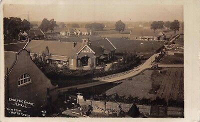 Surrey Ewell Epileptic Colony View From Water Tower Grounds & Workmen Photo Card