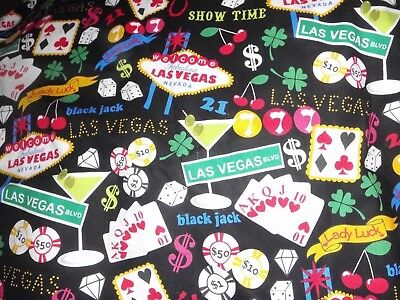 Vacation Travel Trip Vegas Las Vegas Gambling Poker Fabric Scrapbook Album 12X12