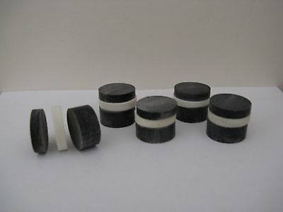 15 Black & White Horn Spacers For Walking Stickmaking/ Crafts/jewellery Making