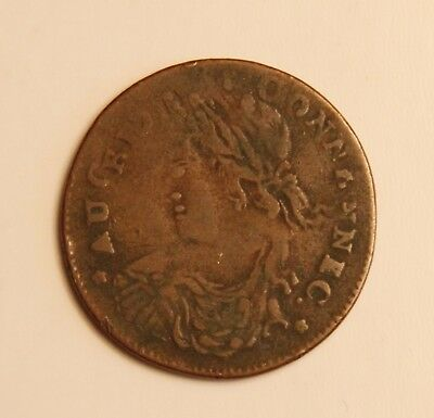 Wonderful 1786/7 Connecticut Error Double Die Copper Coin Facing Left