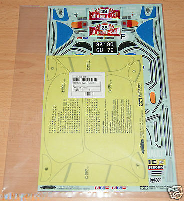 Tamiya 58168 Alpine A110/M02/M05Ra/M06, 9495232/19495232 Decals/Stickers, NIP
