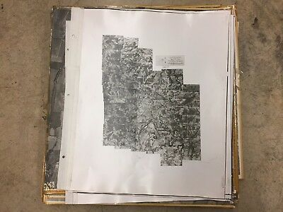 """Lot of 24"""" x 24"""" Historic Aerial Photos of Yamhill County, OR 1955-1956 21937D15"""