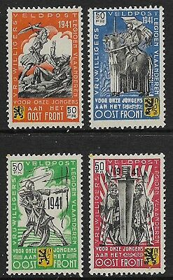 BELGIUM 1941 Flemish Legion Set of 4 Mi Nr I-IV MH/*