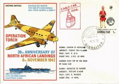 Dr Jim Stamps Wwii Operation Torch North Africa Landings Gibraltar Cover 1972