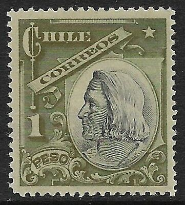 CHILE 1905 Columbus 1p. Grey and Green SG 114 MH/*