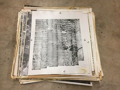 """Lot of 24"""" x 24"""" Historic Aerial Photos of Yamhill County, OR 1953-1970 21937D15"""