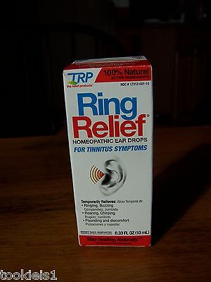 TRP Ring Relief Homeopathic Ear Drops 10 ml Tinnitus Ring Buzz Wax Congestion