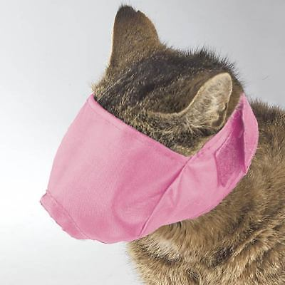 Cat Lined Muzzle - Guardian Gear - Adjustable Strap - Pink