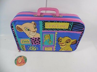 Vintage Disney The Lion King Children Size Luggage Suitcase New With Tags