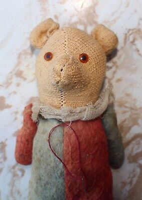 Small Antique Teddy Bear Jointed Arms (Winnie the Pooh?)