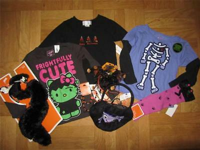 NEW girls Halloween shirt top lot Zebra Costume Claires Necklace socks 4 4T NWT