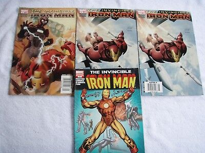 ~~COMIC~~INVINCIBLE IRONMAN (4)~~NO.s 1,3 AND 4~~