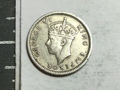 SOUTHERN RHODESIA 1947 three pence coin very nice condition