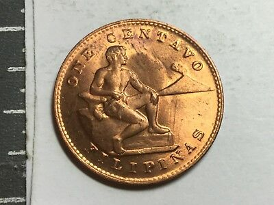 PHILIPPINES 1944-S 1 Centavo coin nice uncirculated
