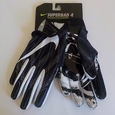 Nike SUPERBAD 4 Padded Receiver Gloves BLACK SKULL GF0494 011 Adult Size SMALL