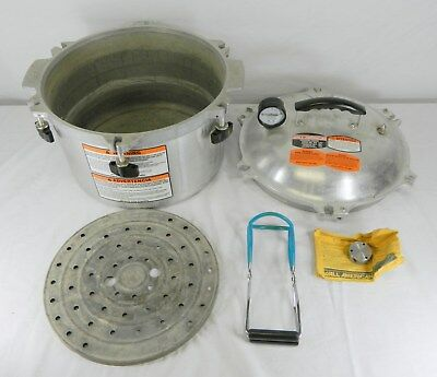 All American Model 915 Aluminum Home Canner Pressure Cooker W/ Accessories