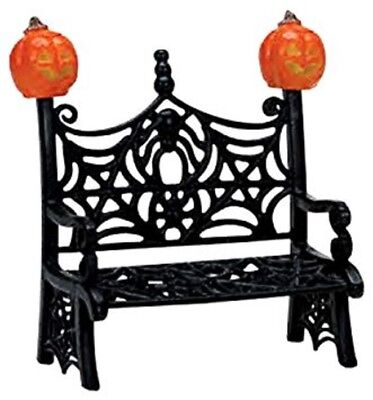 New~Lemax~Spooky Town~Lemax Spiderweb Bench~Halloween Miniature~Pumpkin