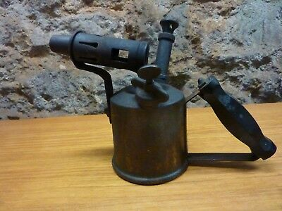 vintage blow torch brass blow lamp unusual bakelite handle nice original item