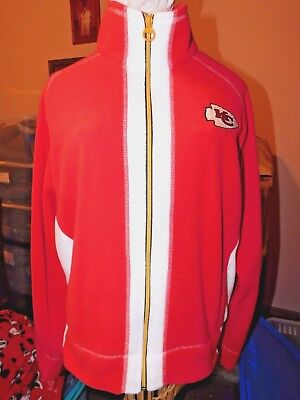 MENS/WOMENS JACKET/SHIRT size XL  KC CHIEFS LOGO (FLEECE)  SUPER NICE!!t!!