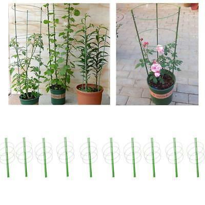 10 Sets Plastic Plant Support Climbing Plants Trellis Vines Grow Stick 60cm